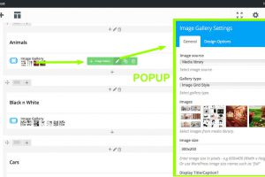 Rollover gallery, click edit pencil, add image in popup