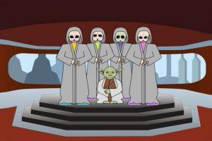 Star War's Yoda trains new students.