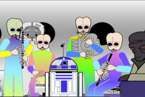 Star Wars Cantina Band performs with R2D2.